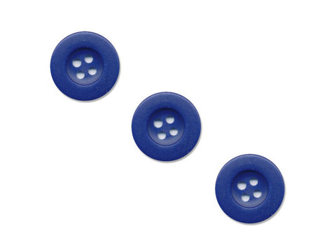 Round Thick Rimmed Buttons - Blue - 181