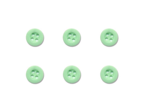 Round Thick Rimmed Buttons - Green - 226
