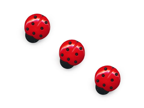 Ladybird Shaped Buttons - 355-Deramores
