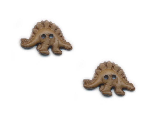 Dinosaur Shaped Buttons - Green - 498-Deramores