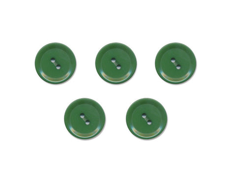Rimmed Round Buttons - Green - 499