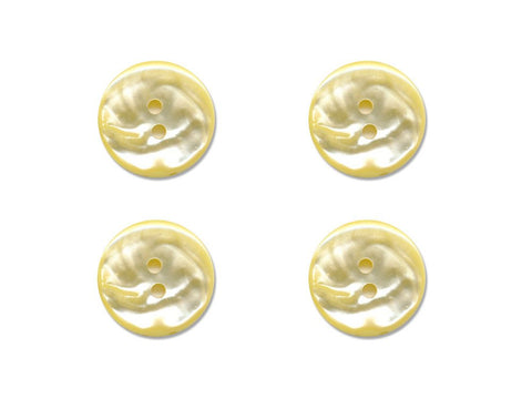 Round Pearl Effect Buttons - Yellow - 914