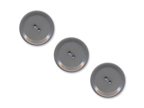 Rimmed Round Buttons - Grey - 1003