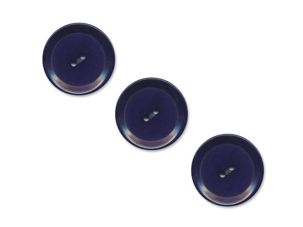 Rimmed Round Buttons - Blue - 1103