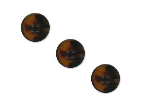 Round Thick Plastic Buttons - Brown - 1114