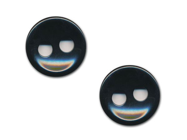 Round Plain Buttons - Black - 1119