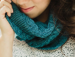 Aine Cowl in SweetGeorgia Superwash DK (1066)