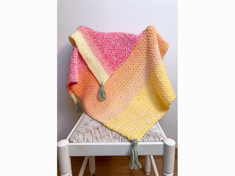 Alma Baby Blanket Crochet Kit and Pattern in Sirdar & Stylecraft Yarn