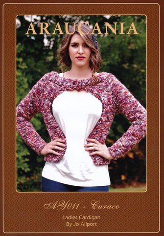 Ladies Cardigan by Jo Allport in Araucania Curaco (AY011)-Deramores