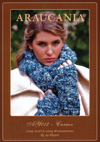 Loop Scarf and Long Wristwarmers by Jo Allport in Araucania Curaco (AY012)-Deramores