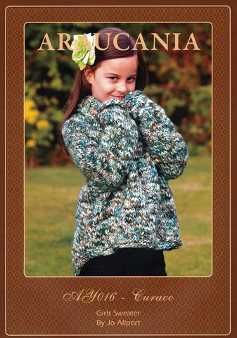 Girls Sweater by Jo Allport in Araucania Curaco (AY016)-Deramores