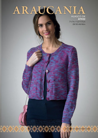 Cardigan with Pockets in Araucania Huasco (AY032)-Deramores