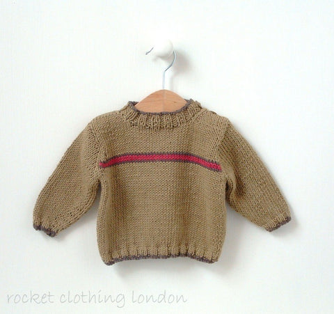 Baby Boys Flash Stripe Sweater by Linda Whaley - Digital Version-Deramores