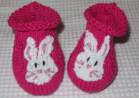 Baby Bunny Boots by MadMonkeyKnits (308) - Digital Version-Deramores