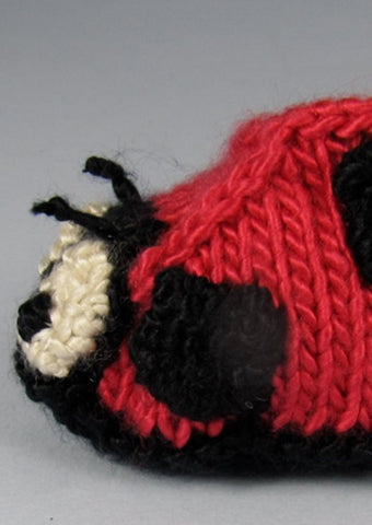 Baby Ladybird Booties by MadMonkeyKnits (547) - Digital Version-Deramores