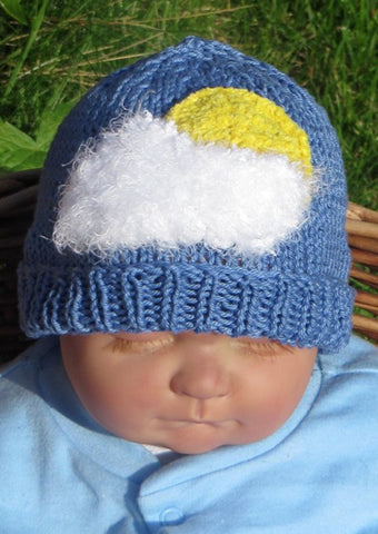 Baby Little Fluffy White Cloud Beanie by MadMonkeyKnits (50) - Digital Version-Deramores