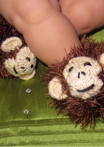 Baby Monkey Boots by MadMonkeyKnits (324) - Digital Version-Deramores
