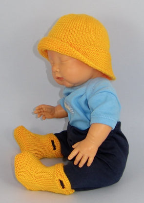 Baby Pull On Boots and Souwester by MadMonkeyKnits (570) - Digital Version