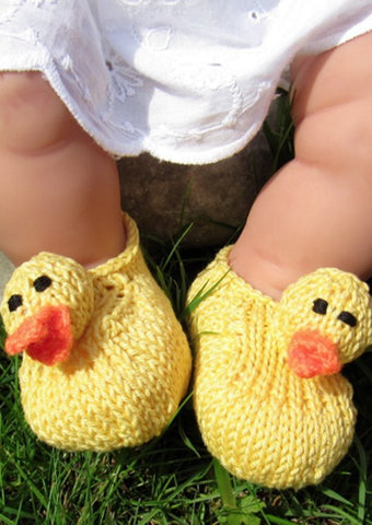 Baby Rubber Duck Shoes by MadMonkeyKnits (315) - Digital Version-Deramores