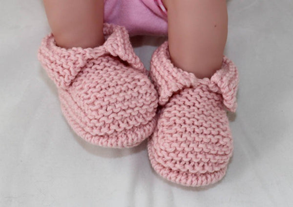 Baby's First Booties by MadMonkeyKnits (1049) - Digital Version-Deramores