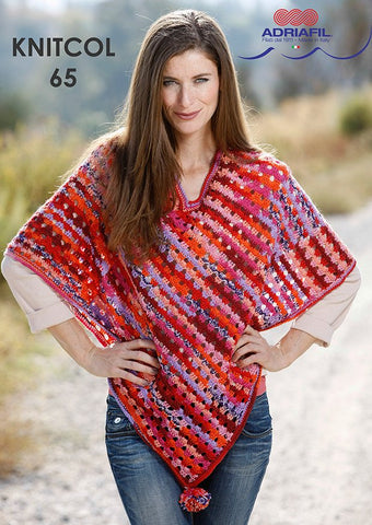 Bach Poncho in Adriafil Knitcol - Digital Version-Deramores
