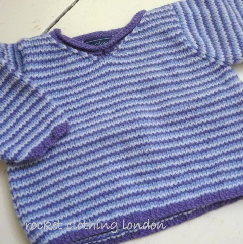 Baby Boys Sweater Multi Stripe by Linda Whaley - Digital Version-Deramores