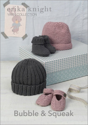 Erika Knight Bubble and Squeak Hat and Bootie Pack