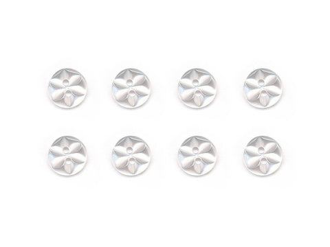 Round Flower Effect Buttons - Clear - 001