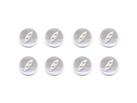 Fish-Eye Buttons - Clear - 005-Deramores