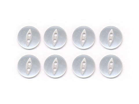 Fish-Eye Buttons - Clear - 006-Deramores