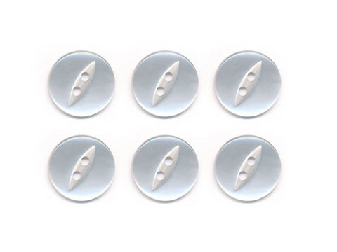 Fish-Eye Buttons - Clear - 007-Deramores