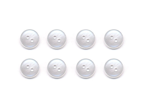 Round Plastic Button - Clear - 009