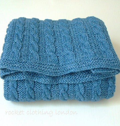 Baby Blanket Classic Cable by Linda Whaley - Digtial Version-Deramores