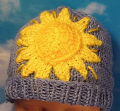 Baby All Day Sunshine Beanie by MadMonkeyKnits (54) - Digital Version-Deramores