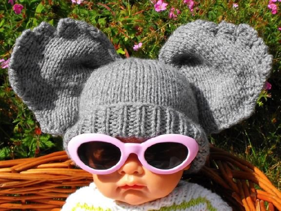 Baby Big Ears Hat by MadMonkeyKnits (002) - Digital Version-Deramores