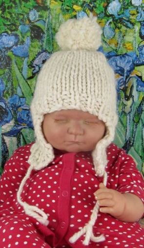 Baby Bobble Superfast Trapper Beanie Hat by MadMonkeyKnits (487) - Digital Version