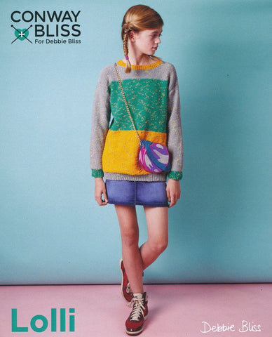 Colour Block Sweater in Conway + Bliss Lolli (CB021)-Deramores