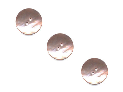 Round Shell Buttons - Pink - 370