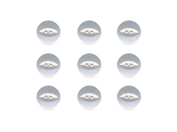 Fish-Eye Buttons - White - 002-Deramores