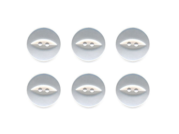 Fish-Eye Buttons - White - 004-Deramores