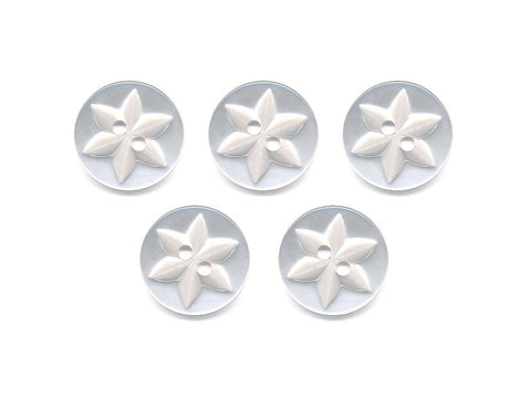 Round Flower Effect Buttons - Clear - 004