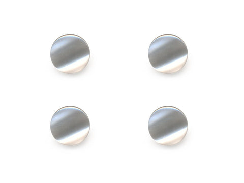 Round Pearl Effect Buttons - White - 026