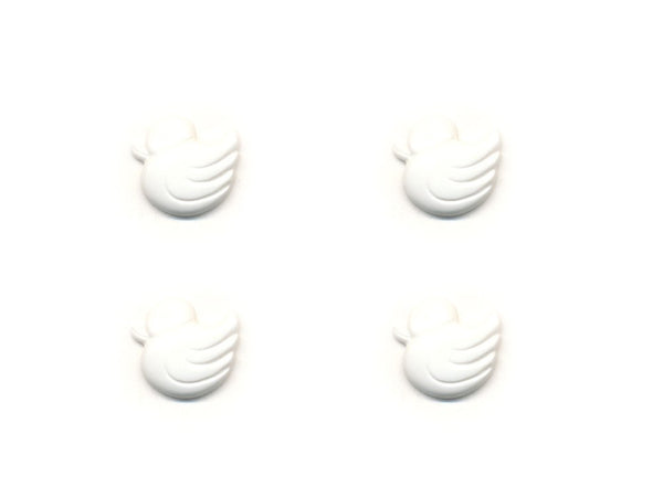 Duck Shaped Buttons - White - 030