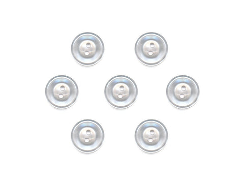 Translucent Rimmed Round Buttons - Clear - 037