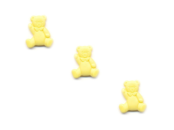 Teddy Bear Shaped Buttons - Yellow - 055