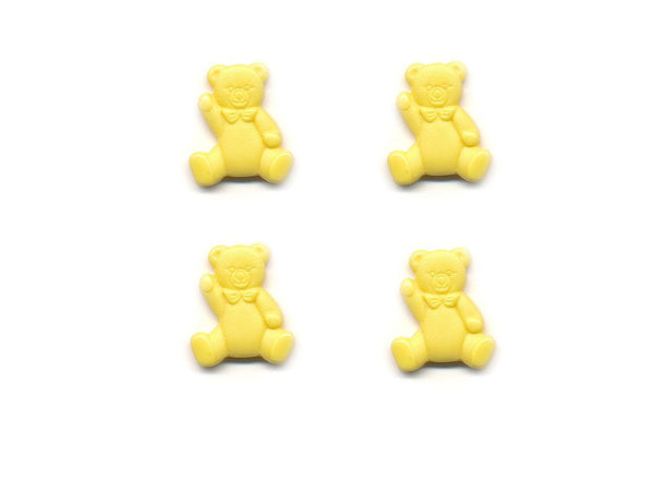 Teddy Bear Shaped Buttons - Yellow - 088