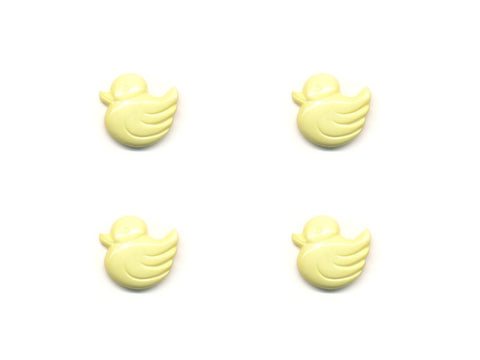 Duck Shaped Buttons - Yellow - 056-Deramores