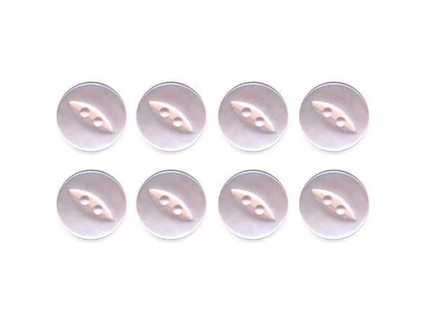 Fish-Eye Buttons - Pink - 080-Deramores