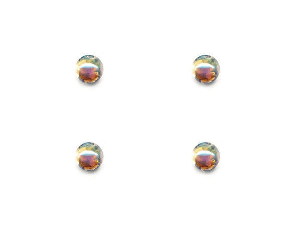 Domed Pearl Effect Buttons - Clear - 082-Deramores