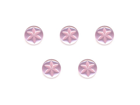 Round Flower Effect Buttons - Pink - 095